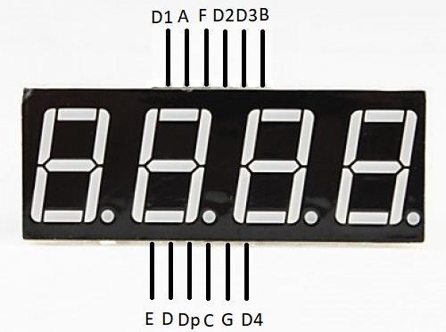4 digit 7 segment display