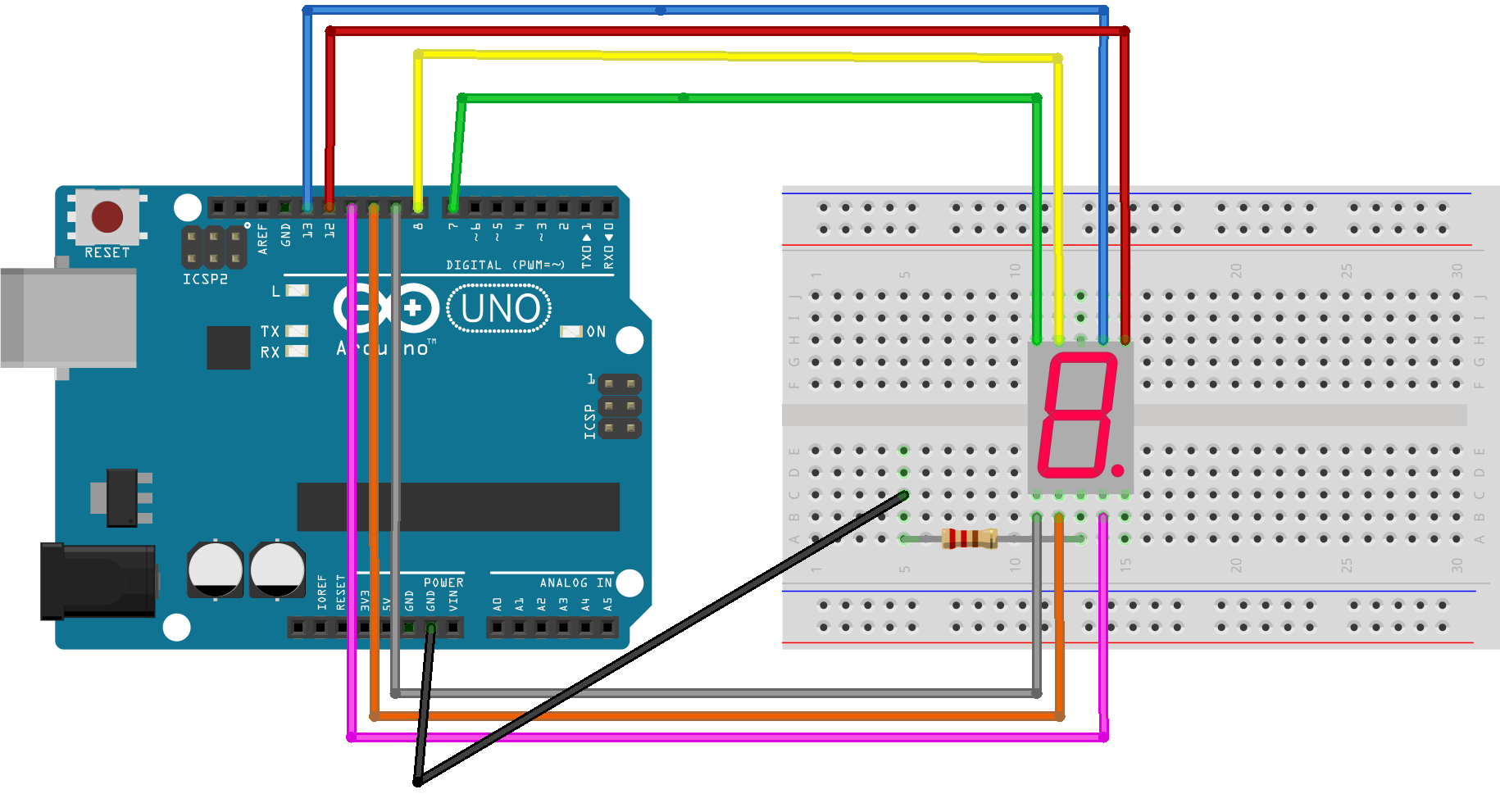Arduino with Seven Segment Display