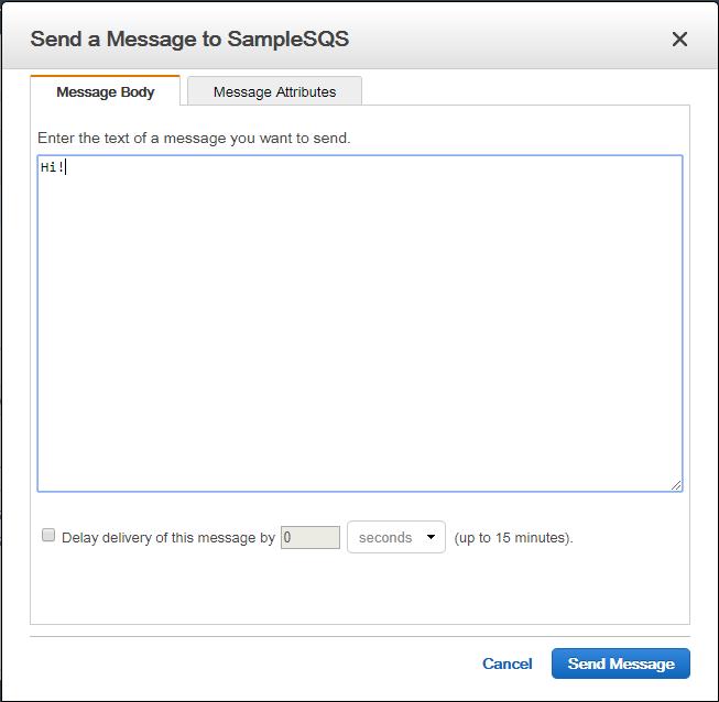 Put message in SQS