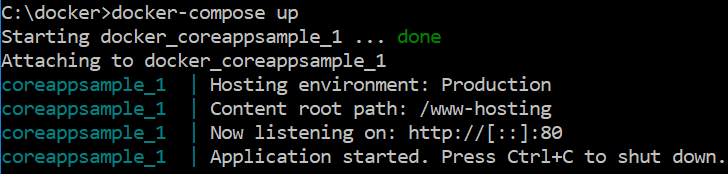 Running Docker container using YML file